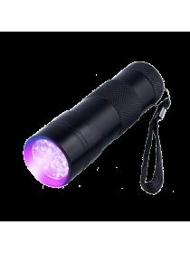 Ультрафиолетовый фонарь 12 светодиодов